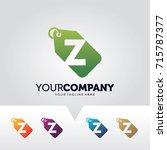 letter z price label logo... | Shutterstock .eps vector #715787377