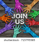 join us recruit membership... | Shutterstock . vector #715795585