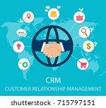 crm   customer relationship... | Shutterstock .eps vector #715797151