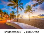 fort lauderdale beach  florida  ... | Shutterstock . vector #715800955