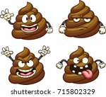 cartoon poop character with... | Shutterstock .eps vector #715802329