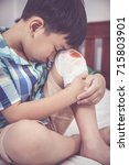 childhood accidents. sadness... | Shutterstock . vector #715803901