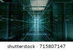 network server room with... | Shutterstock . vector #715807147