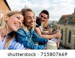 enjoying friendship | Shutterstock . vector #715807669