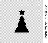 christmas tree and star vector... | Shutterstock .eps vector #715808359