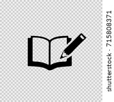 notebook and pen vector icon... | Shutterstock .eps vector #715808371