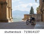 beautiful landmark of pienza... | Shutterstock . vector #715814137
