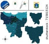 vector map of jakarta with... | Shutterstock .eps vector #715815124
