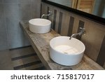 wash basin in the restroom     ... | Shutterstock . vector #715817017