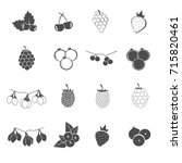 fruit of berry icons set vector | Shutterstock .eps vector #715820461