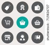 set of 9 shopping icons set... | Shutterstock .eps vector #715826737