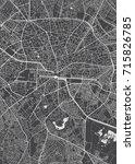 bucharest city plan  detailed... | Shutterstock .eps vector #715826785