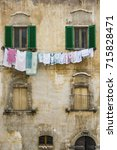 Small photo of pictorial old buiding of Italian villages in Abruzzi, Italy