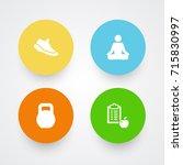 set of 4 training icons set... | Shutterstock .eps vector #715830997