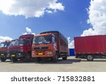 truck in car park | Shutterstock . vector #715832881