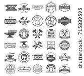 set of vector logotypes... | Shutterstock .eps vector #715839595