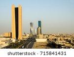 riyadh city over view. king... | Shutterstock . vector #715841431