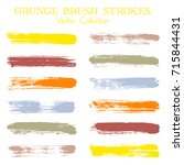 watercolor  ink or paint brush... | Shutterstock .eps vector #715844431