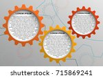 template gears infographic 3... | Shutterstock .eps vector #715869241