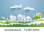 vector illustrations of homes... | Shutterstock .eps vector #715871041