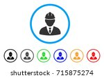 engineer icon. vector... | Shutterstock .eps vector #715875274