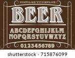 font script typeface... | Shutterstock .eps vector #715876099