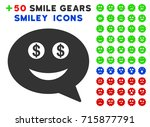 millionaire smiley message... | Shutterstock .eps vector #715877791