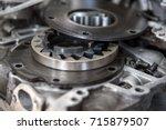 disassembled mechanical high... | Shutterstock . vector #715879507