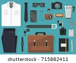 vector illustration of every... | Shutterstock .eps vector #715882411