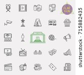 cinema  movie line icons set ... | Shutterstock .eps vector #715882435