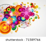 gift card. floral design... | Shutterstock . vector #71589766