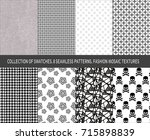 collection of swatches.... | Shutterstock .eps vector #715898839