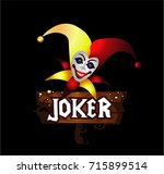 joker cartoon | Shutterstock .eps vector #715899514