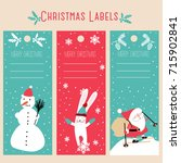 christmas labels  template | Shutterstock .eps vector #715902841