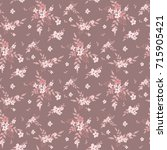 seamless floral pattern.... | Shutterstock .eps vector #715905421