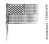 flag united states of america... | Shutterstock .eps vector #715907479