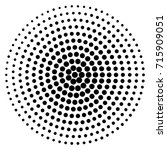 circle dot patterns  dotted... | Shutterstock .eps vector #715909051