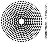 circle dot patterns  dotted...   Shutterstock .eps vector #715909054