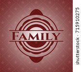 family retro red emblem | Shutterstock .eps vector #715910275