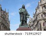 antwerp. street view | Shutterstock . vector #715912927