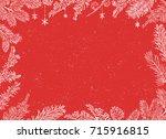 christmas poster   illustration.... | Shutterstock .eps vector #715916815