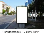 billboards with white... | Shutterstock . vector #715917844