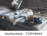 still life details of living... | Shutterstock . vector #715918441