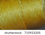 nylon chord   yellow | Shutterstock . vector #715923205