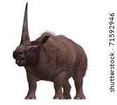 dinosaur elasmotherium.  3d... | Shutterstock . vector #71592946