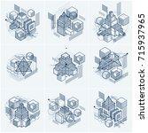 abstract vector backgrounds... | Shutterstock .eps vector #715937965