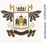 retro vintage insignia. vector... | Shutterstock .eps vector #715941295