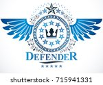 vintage award design  heraldic... | Shutterstock .eps vector #715941331