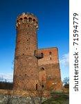 Medieval castle in Swiecie - Poland - stock photo