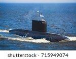 a line of modern russian... | Shutterstock . vector #715949074